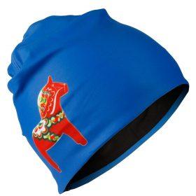 Thermo Beanie blå röd